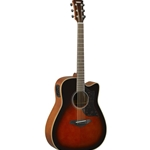 Yamaha AC1MTBS Small Body w/Electric Pick Up - Tobacco Brown Sunburst
