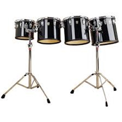 "Ludwig LECT62CCG 6/8/10/12"" High Range Concert Toms w/Stands"