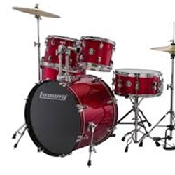 Ludwig LC17014 Red Foil 5 Pc. Drum Set