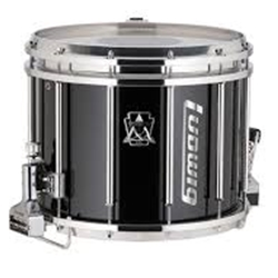 "Ludwig LUMS14PXA 12""x14"" Marching Snare Drum w/Randall May Monoposto Carrier"
